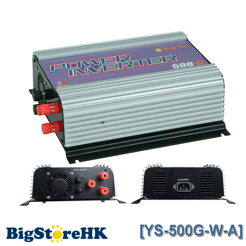 500W Grid Tie Power Inverter for 3 Phase AC To AC Wind Turbine MPPT Pure Sine Wave Inverter Build In High Wind Protection 600w grid tie inverter lcd 110v pure sine wave dc to ac solar power inverter mppt 10 8v to 30v or 22v to 60v input high quality