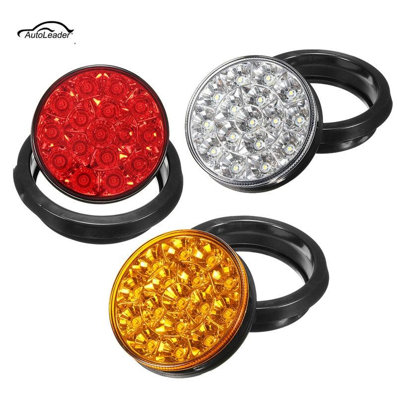 Грузовик с прицепом 1шт 16 светодиодный круглый отражатель хвост тормоз света стоп сигнал поворота Лампа 12В