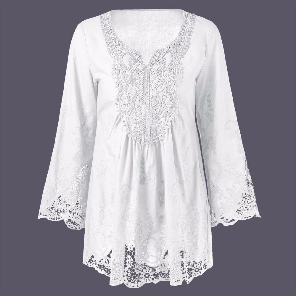 HTB1tWkYOXXXXXa3XFXXq6xXFXXXH - Gamiss Plus Size 5XL Female Blusa Retro Spring Autumn Lace Floral