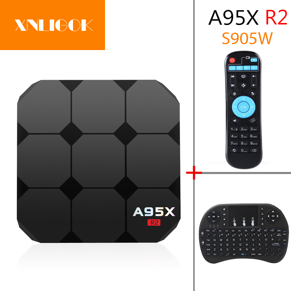 Smart A95X R2 TV Box 2G+16G S905W WiFi Quad Core 4K 3D Media Player Android 7.1