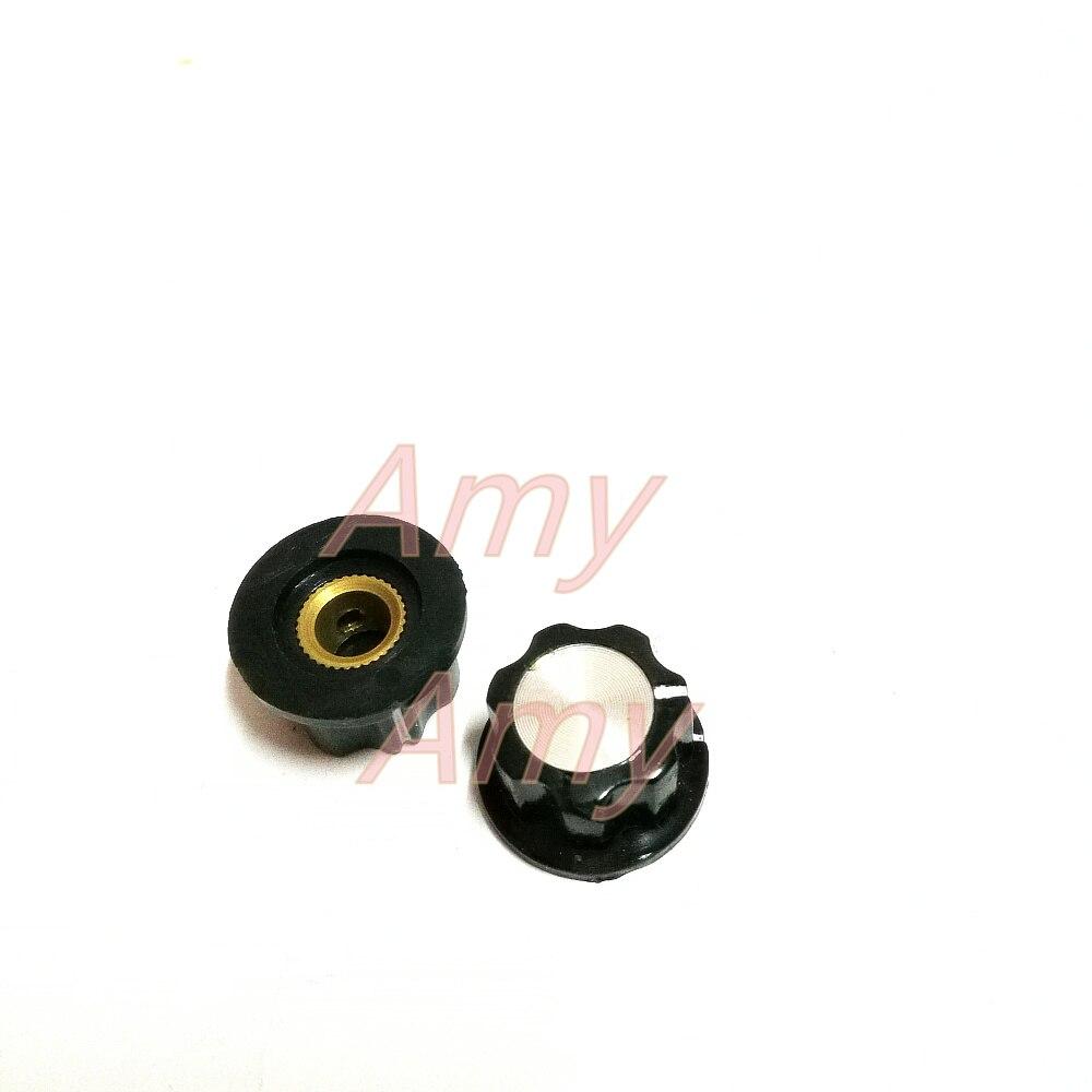 Electronic Components & Supplies 50pcs/lot A-1 Bakelite Knob Knob Cap Cap 20*11 Potentiometer Potentiometer Knob 6mm Internal Hole Of The Lock Scre Street Price Passive Components