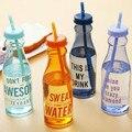650 ml Moda Irrompible Botella de Agua Portable de Los Deportes Taza De Plástico Con Paja Mi Creativo Botella SIN BPA