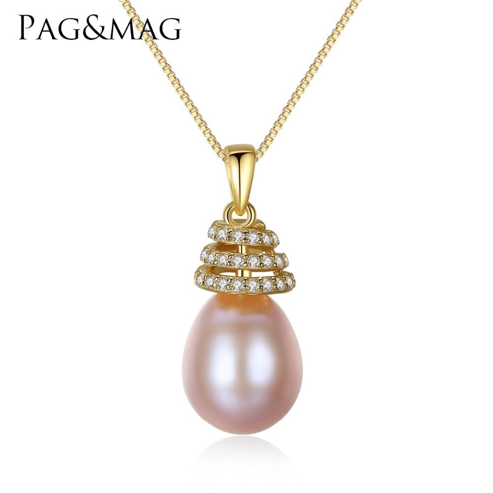 PAG & MAG Marke Mode Perlenketten für Frauen Hochzeit 3 FARBE - Edlen Schmuck