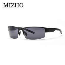 MIZHO Brand Anti-glare Hard Light 100% Polaroid HD UV400 Strong Aluminum Sunglasses Polarized Men Sport With Original Box