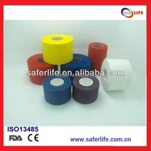 卸売20ピースロットスポーツテープ安全スポーツテープ粘着テープ3.8センチ× 10メートル剛性テープ用手首サポート