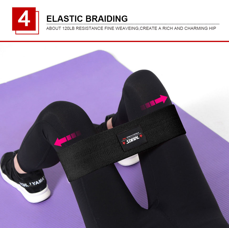 AOLIKES Hip Circle Loop Resistance Band in Non Slip and Non Roll Design for Legs and Thigh 13