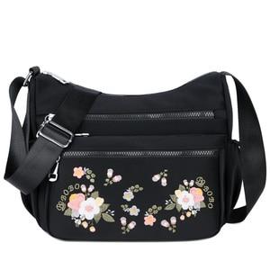 Image 5 - 작은 나일론 숄더 가방 꽃 자 수 여성 메신저 가방 고품질 crossbody 가방 여성 숙 녀 럭셔리 디자이너 핸드백
