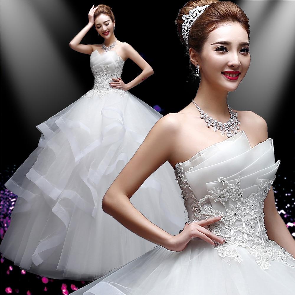 Best Ball Gown Wedding Dresses: White Ball Gown 2016 Tube Top Wedding Dress Three