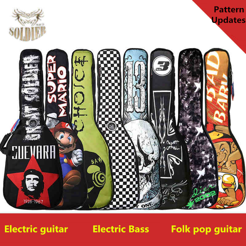 Waterproof 20mm Thicken 40 41 Electric Bass Steel-String Guitar Bag Case Backpack Guitarra Bass Accessories Parts Carry Gig belcat bass pickup 5 string humbucker double coil pickup guitar parts accessories black
