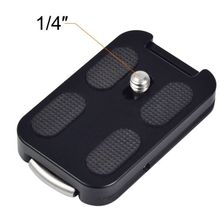 """Moveski QR-60 1/four"""" Screw Fast Launch Plate With Strap Buckle And Attachment Loop"""