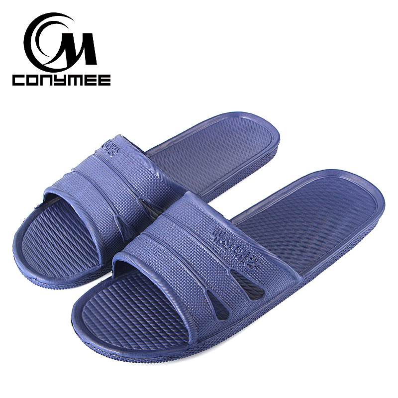 CONYMEE Summer Shoes Men 2018 Men's Fashion Beach Sandals Flip Flops Indoor Home Slippers Sandalias Big Size Man Zapatos Hombre цена