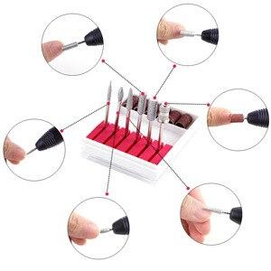 Image 2 - Professionelle Maniküre Maschine Nail art Schleif Datei Gel Polish Remover Elektrische Bohrer Set Fräsen Cutter Keramik Pediküre