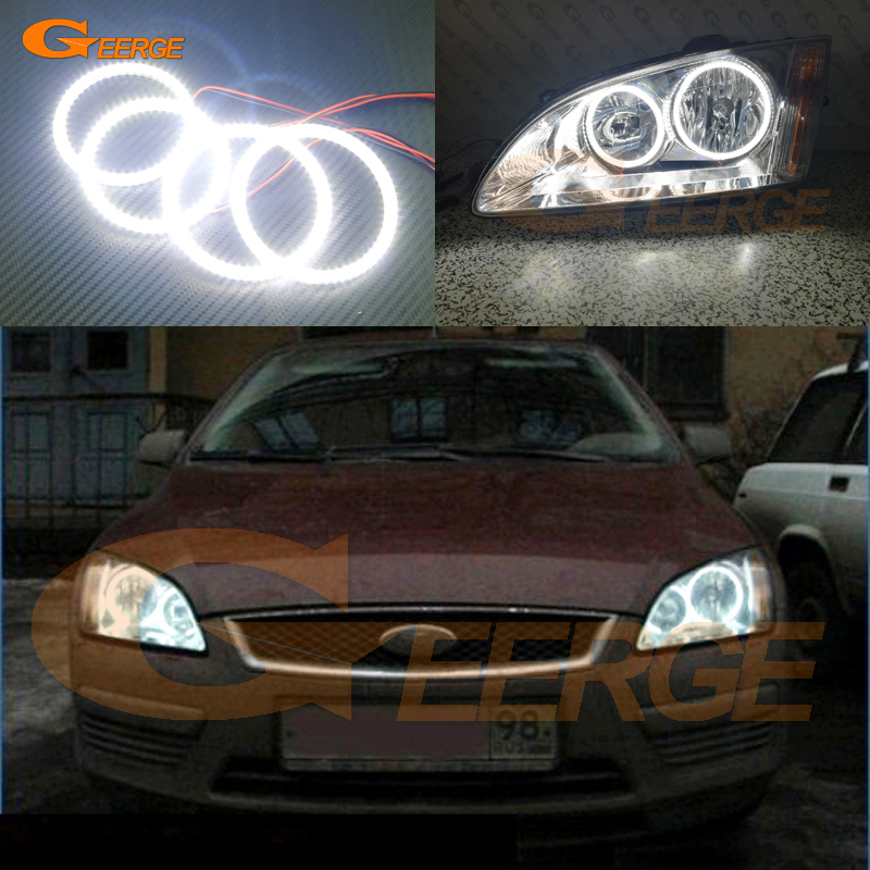 For Ford Focus II Mk2 2004 2005 2006 2007 2008 Europe headlight Excellent Ultra bright illumination smd led Angel Eyes kit new for ford focus ii da