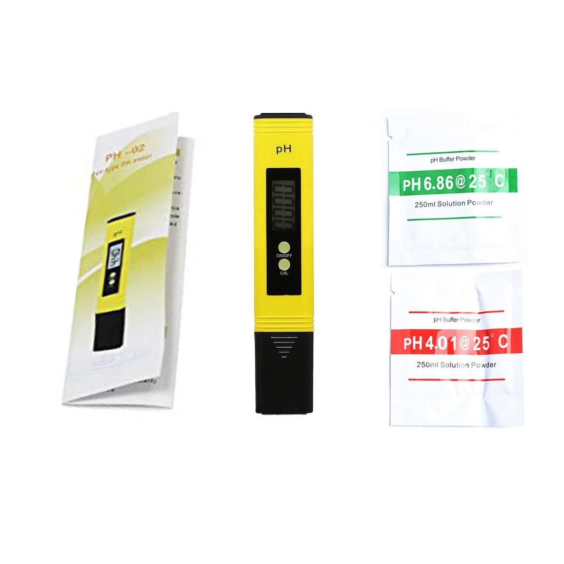 Portátil lcd digital medidor de ph precisão 0.1 aquário piscina água vinho urina automática calibração gama 0 14 14 bolso caneta testador
