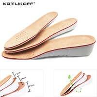 KOTLIKOFF Plantillas Aumento de la Altura de Cuero de piel de Cerdo plantilla cojín del zapato inserta cuidado de los pies pad accesorios Del Zapato para los zapatos Mujeres de Los Hombres pad