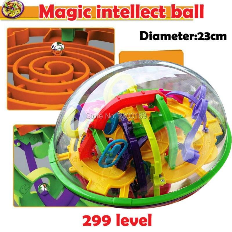 Magic Maze Ball 299 level Diameter 23cm perplexus magical intellect ball educational toys perplexus balls IQ Balance toy for kid 3d magical coin intellect maze ball kids amazing balance logic ability toys educational iq trainer game for kids chirstmas gifts