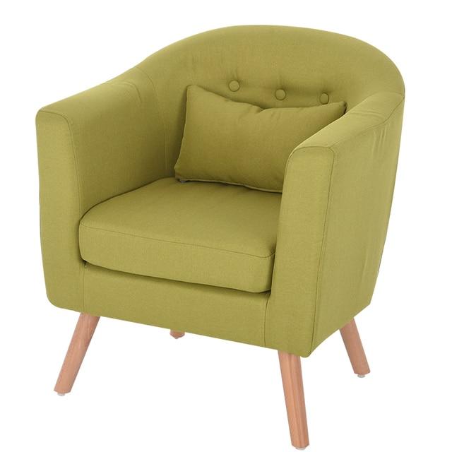 Armchair Linen Upholstery and Wooden Legs 6
