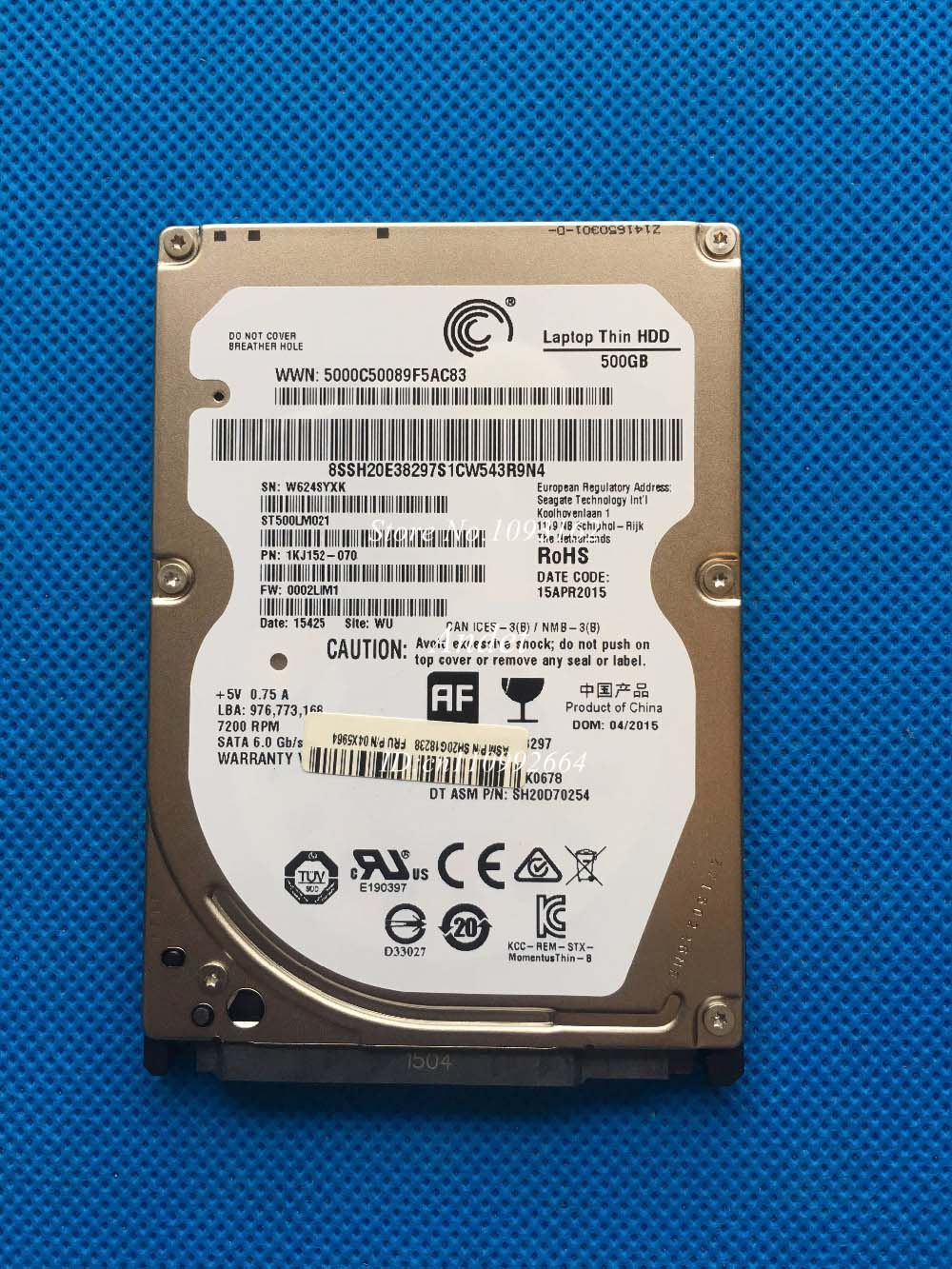 ST500LM021 500GB 7200RPM 32M Cache SATA6Gbps Laptop Hard Drive Disk SATA3 500G Laptop HDD 2.5 7mm Thick 2.5 Inch hot sale 1 year warranty for the ds3400 x3650 x3550 39m4558 7200 rpm sata 3 5 500gb hdd new