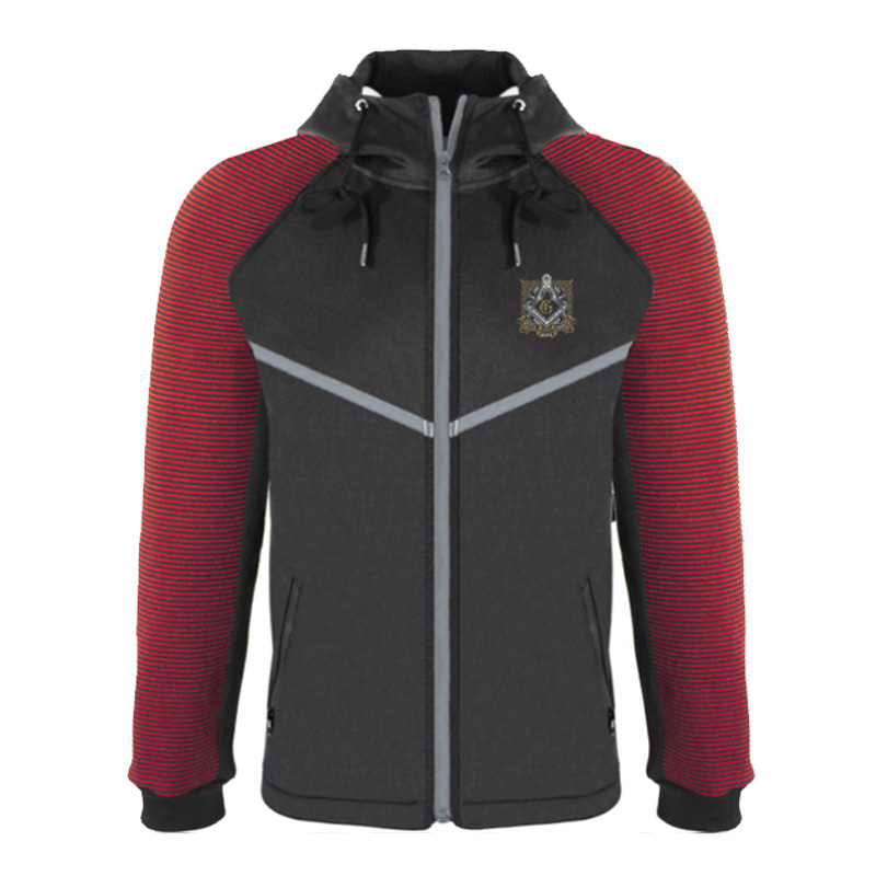 2019 New Fashion Classic Masonic Logo Casual Jacket Hooded Zipper Hoodies Autumn Mens Faith Hope Charity Coat Baseball Uniform(China)