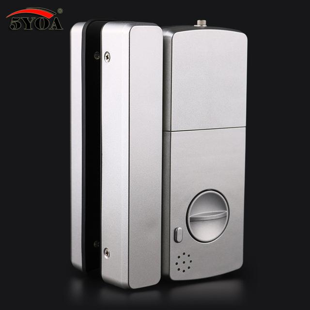 Glass Fingerprint Lock Digital Electronic Door Lock For Home Anti-theft Intelligent Password RFID Card Standalone Opener Smart