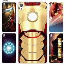 BiNFUL super hero Iron Man Clear Cover Case for Sony Xperia XA XA1 X XZ Z5 Z1 Z2 Z3 M4 Aqua M5 E4 E5 C4 C5 Compact Premium(China)