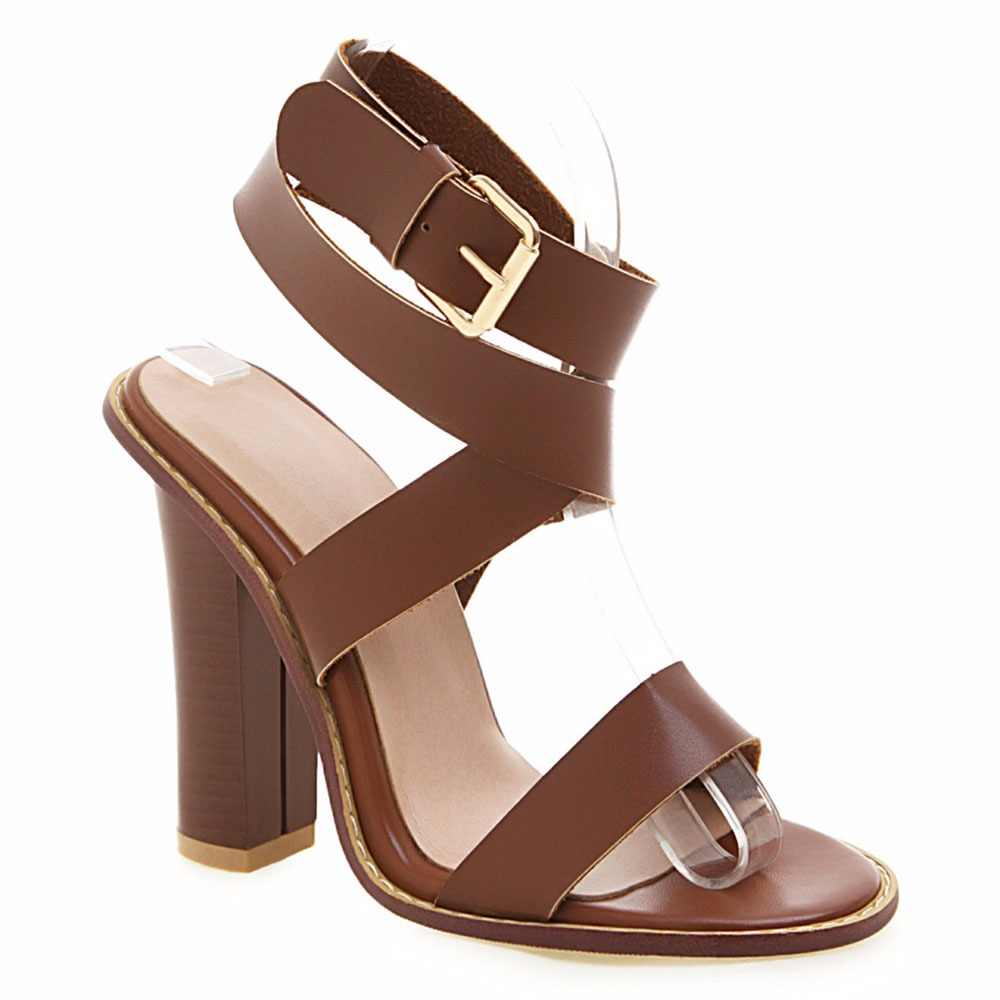 Sgesvier size 32-48 new summer sandals buckle super high heels shoes women ladies prom wedding shoes elegant women sandals G519