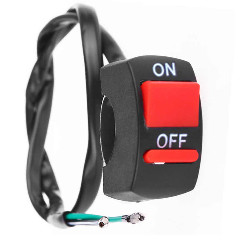 Universal Handlebar Motorcycle Switch ON-OFF Button Switch For U5 U7 U2 HeadLight LED Angel Eyes Light Switch Kill Stop Button