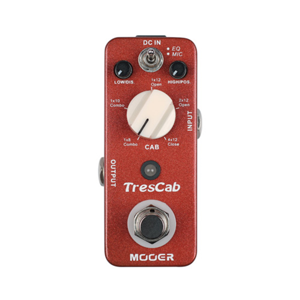 Mooer TresCab Guitar Effect Pedal Micro Mini TresCab TresCab digital Cabinet Simulated Simulator Effect Pedal True bypass MTC1 new aroma atp 3 tube pusher vlave combo simulator overdrive mini analogue effect true bypass