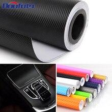 Doofoto 127cmx 30cm 3D Car Sticker Accessories Carbon Fiber Vinyl Wrap Roll DIY Styling Motorcycle Automobile Body Waterproof