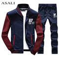 2016 sportswear hoodies set Autumn suit men clothes Polo track suits tracksuits male sweatshirts & Coats Joggers Plus Size D27