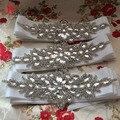 Nova Cintura Casamento Cinto Floral Contas De Strass Cristal de Casamento de Luxo venda Quente Cintos De Noiva Com Sash
