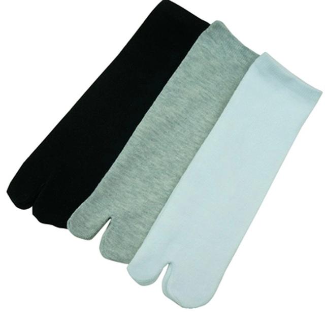 3 Pairs New Unisex Cotton Ninja Socks Japanese Style Kimono Flip Flop Slipper Sandal Split 2 Toe Tabi Foot Finger for Men Women