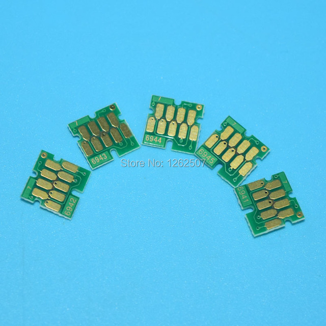 T6941 T6942 T6943 T6944 T6945 5Colors Cartridge Chips For Epson T3000 T5000 T7000 T3200 T5200 T7200 T3270 T5270 T7270 Printerschip epsonepson t7200 chipschip epson t7200