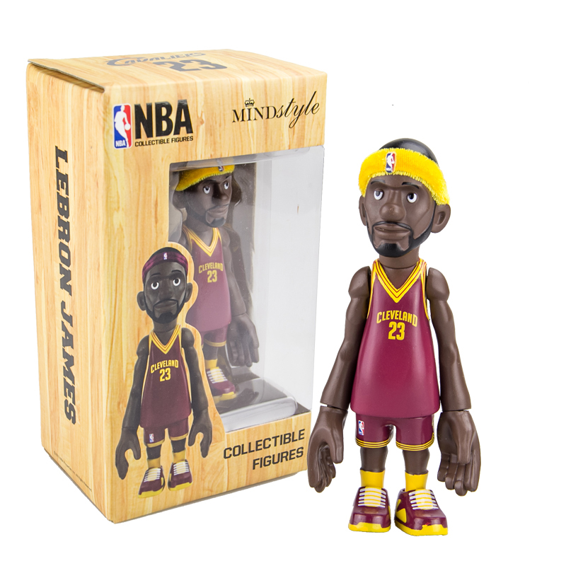 16cm NBA The Cleveland Cavaliers All-Star Basketballplayer Lebron James Action Figure Q Version Of Mode For Christmas Gift одежда для занятий баскетболом nba cleveland cavaliers irving gold jersey