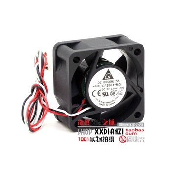 Free shipping Wholesale Delta EFB0412MD R00 40x20mm  40mm DC 12V 0.1A 3Wire server inverter Cooling Fan