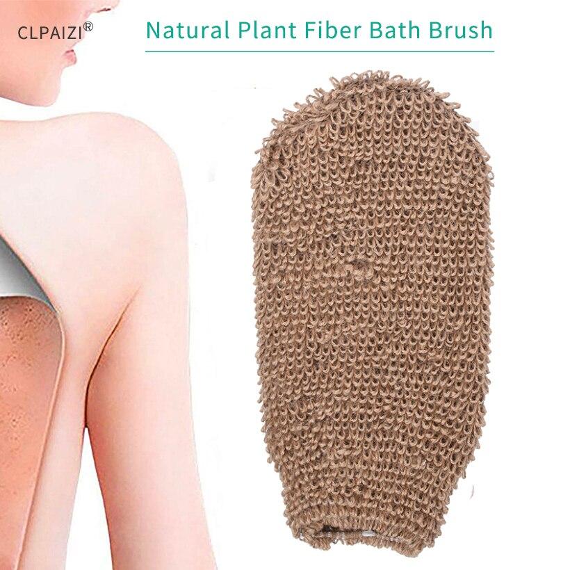 CLPAIZI Exfoliating Natural Fiber Brush Back & Body Scrubber Glove Durable Massage D30