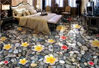3d Flooring Custom Magnolia Flower Falling Stone Tile Flooring Bathroom Wall Mural Wallpaper 3d Floor Stickers
