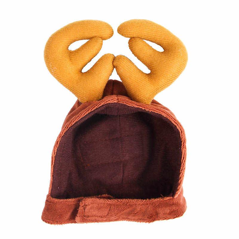 חדש חיות מחמד כלב חתול צעיף כובע גלימת סרט סט מתנות חג המולד המפלגה חורף בגדים