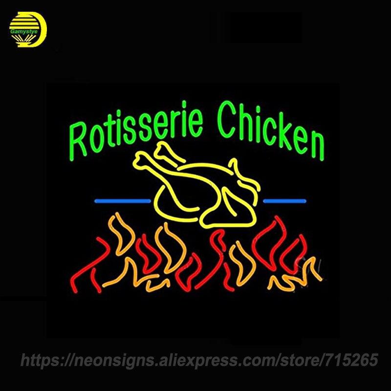 <font><b>Neon</b></font> <font><b>Sign</b></font> for <font><b>Rotisserie</b></font> Chicken Custom LOGO <font><b>Neon</b></font> Bulbs Beer Bar Pub Food Store Handcrafted Letrero <font><b>neon</b></font> Iconic Advertise 24x20