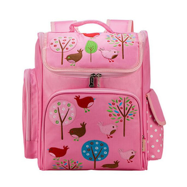 Hot Sale 2017 New Fashion Cartoon Cute Girl School Bag 1-6 Grade Primary School Pupil's School Bag Korean Oxford Bagpack B443