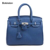 Bokinslon Handbags Woman Bags Fashion PU Leather Women Handbag Individuality Popular Brand Handbag For Female