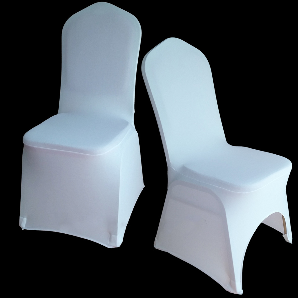 100 pcs white universal stretch polyester spandex party wedding chair covers for weddings lycra china dining