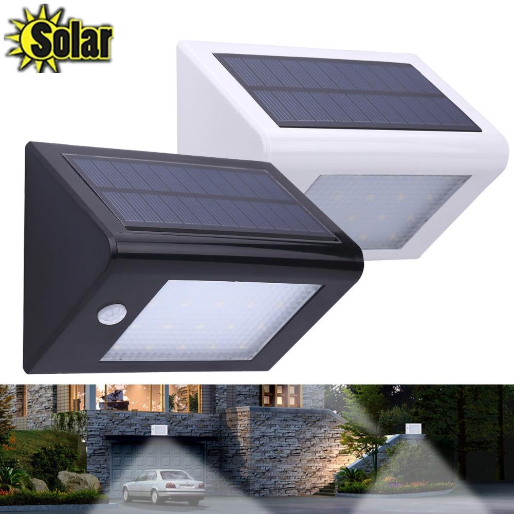 20 LED Outdoor Solar Power PIR Motion Sensor 350LM Garden