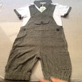 2PCS Summer Infants Baby Boys Sets T-shirt Top+Bib Pants Jumpsuit Overall Costume New