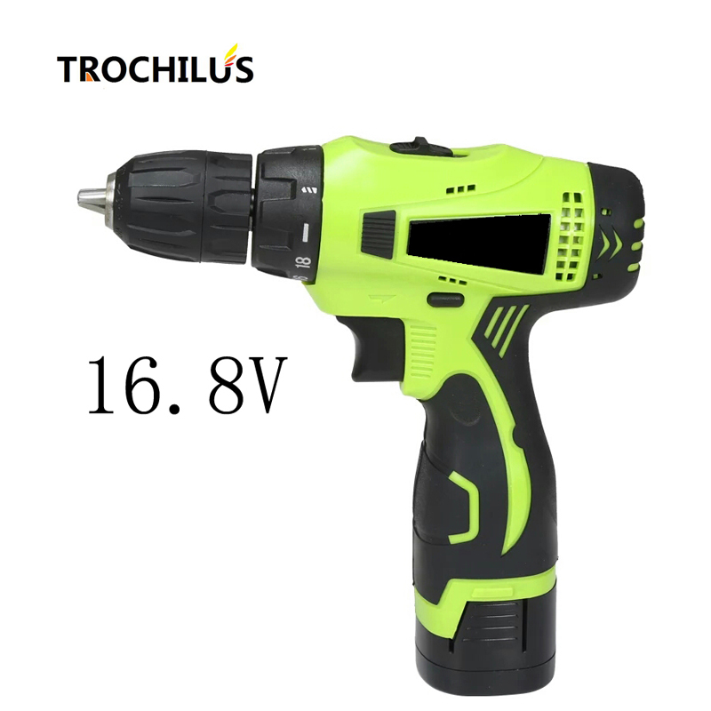 цена на 16.8V power tools Cordless drill Multi-function electric screwdriver with lithium battery Two-speed miniature electric drill