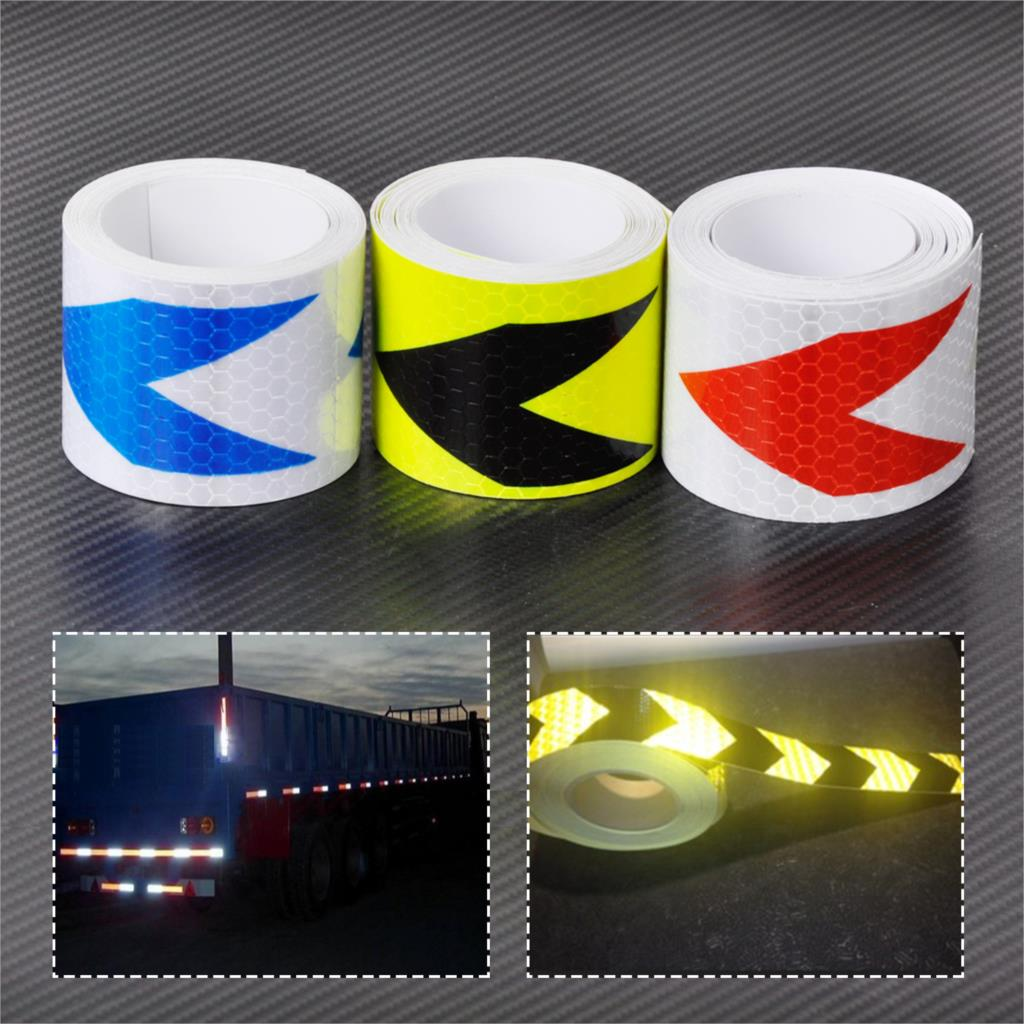CITALL 2X10 5cm x 3M Reflective Safety Caution Arrow Warning Conspicuity Tape Film Sticker For Bikes Bicycles Cars Motorcycles new 10pcs white reflective safety security warning conspicuity tape film sticker reflective film hot sale