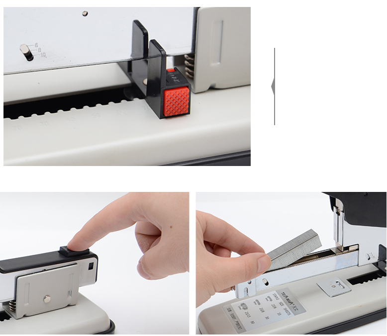 Paper Bookbinding 110 Sheet Capacity School Office Supplies for Your Office Running smoothly Plastic Construction Metal LXB Heavy Duty Metal Adjustable Stapler
