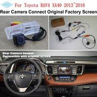 Lyudmila Car Rearview Camera Connect Original Screen FOR Toyota RAV4 XA40 2013~2016 Reverse Backup Camera RCA Adapter Connector