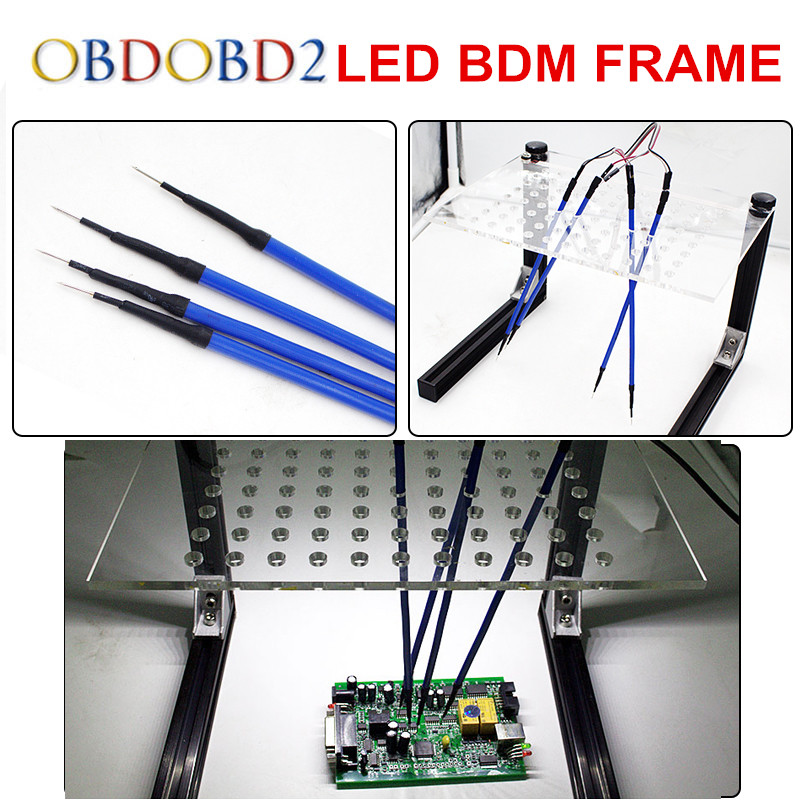 Best LED BDM FRAME Full Set & 4 Probes Pens Used For Auto ECU Chip Tuning Tool KTAG K-TAG KESS Fg Tech V54 BDM100 Free Ship best quality led bdm frame with 4 probe pens full set 22pcs bdm adapters fit for ktag kess fgtech bdm100 ecu chip proframmer