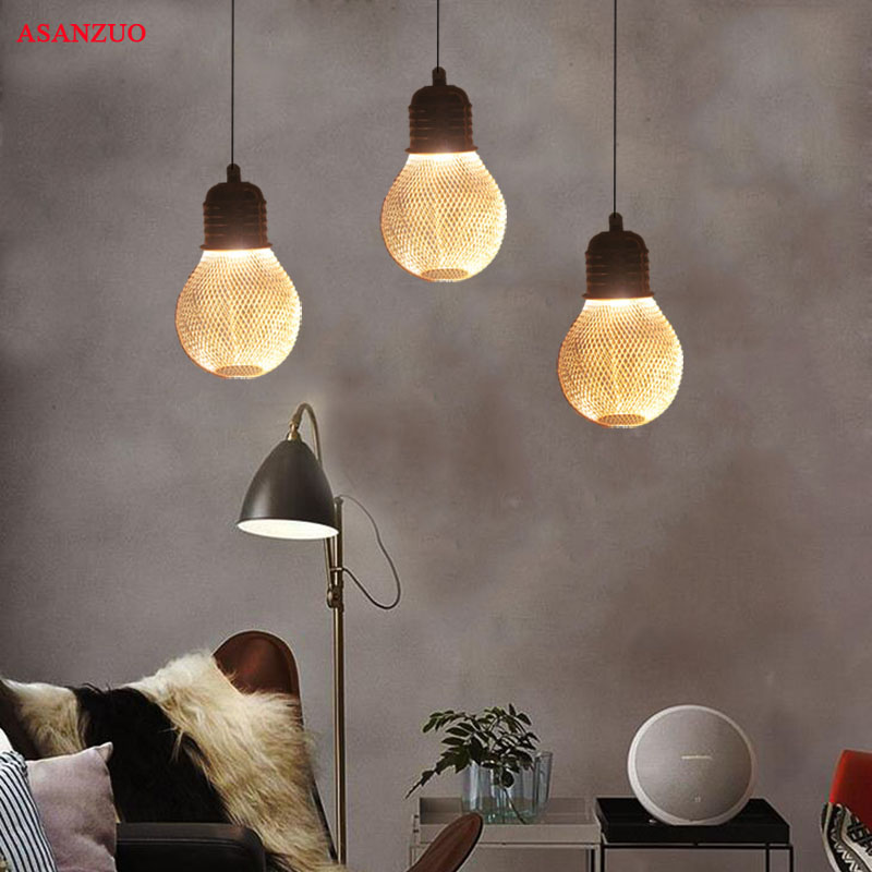 Modern single head Pendant Lights aluminum&wood Lampshade personality Bar / Cafe / Living room / restaurant classical chinese food industry restaurant bar cafe original wood single head pendant lights rmy 0247